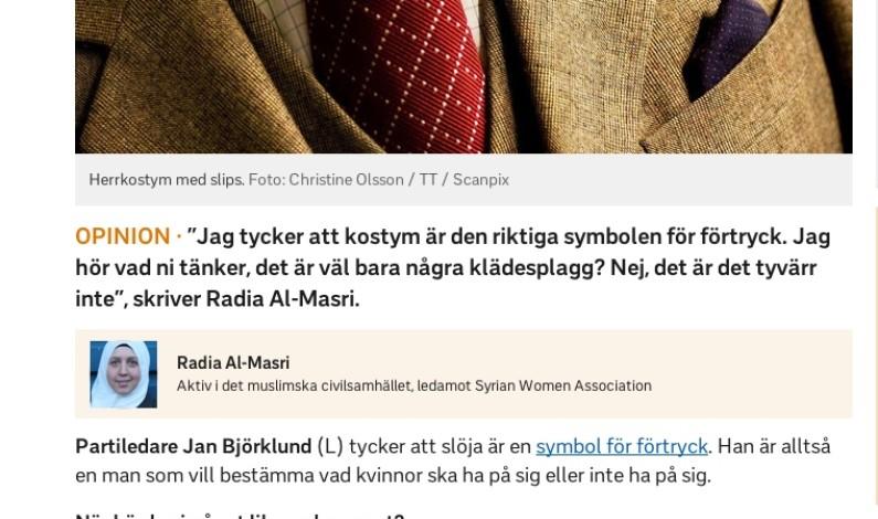 SVENSK-SYRISK MUSLIM: DRESS ER ET SYMBOL PÅ ONDSKAP